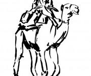 Coloriage et dessins gratuit Dromadaire du Sahara à imprimer