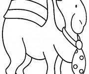 Coloriage et dessins gratuit Dromadaire en noir à imprimer