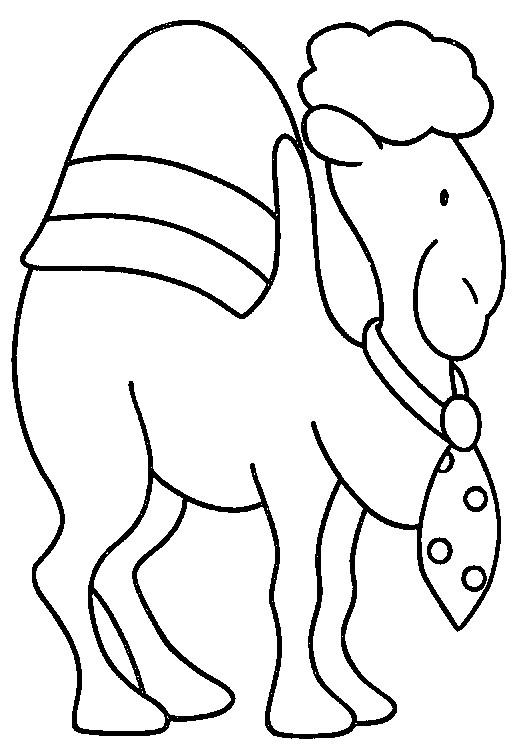 Coloriage dromadaire en noir dessin gratuit imprimer - Dessiner un chameau ...