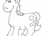 Coloriage et dessins gratuit Un Cheval mignon à imprimer