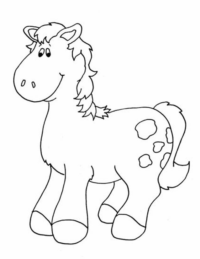 Coloriage et dessins gratuits Un Cheval mignon à imprimer