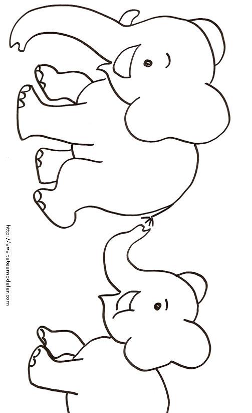 Coloriage des petits l phants dessin gratuit imprimer - Dessin elephant rigolo ...