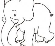 Coloriage et dessins gratuit Elephant 1 à imprimer