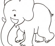 Coloriage dessin  Elephant 1