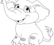 Coloriage et dessins gratuit Elephant 15 à imprimer