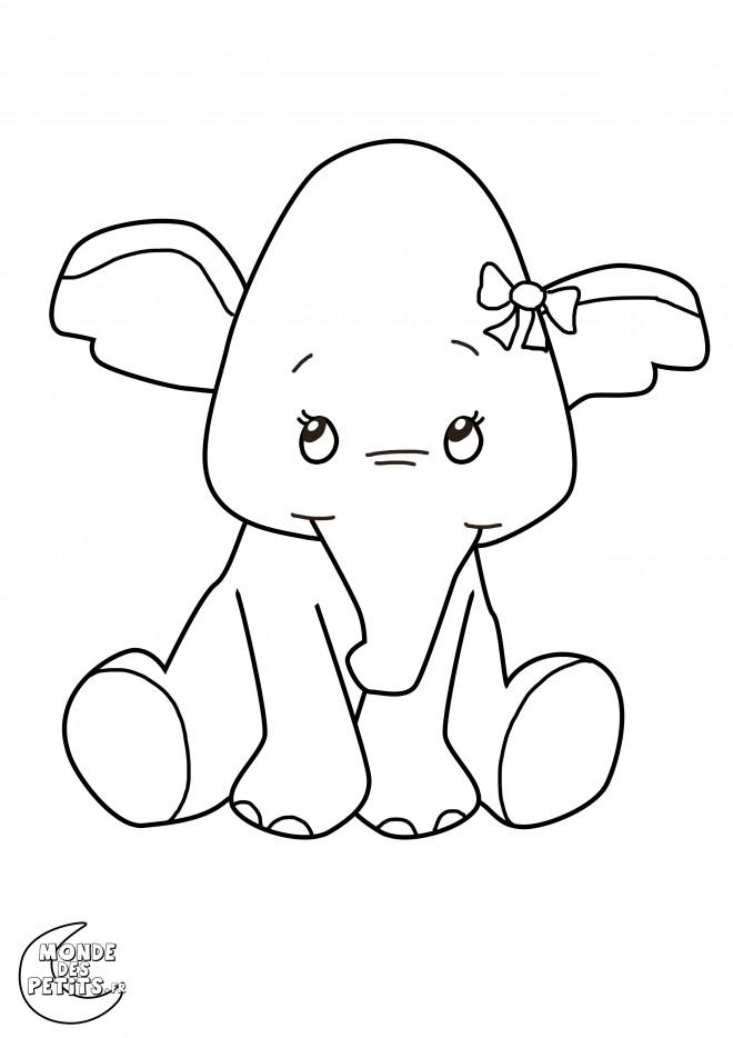 Coloriage et dessins gratuits Elephant 21 à imprimer