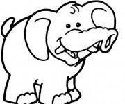 Coloriage et dessins gratuit Elephant 22 à imprimer