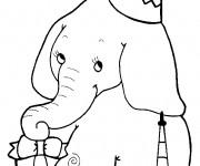 Coloriage et dessins gratuit Elephant 24 à imprimer