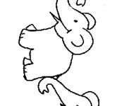 Coloriage et dessins gratuit Elephant 25 à imprimer
