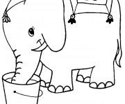 Coloriage et dessins gratuit Elephant 26 à imprimer