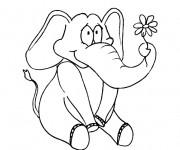 Coloriage et dessins gratuit Elephant 27 à imprimer