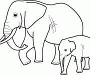 Coloriage et dessins gratuit Elephant 4 à imprimer
