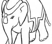Coloriage Éléphant de Cirque