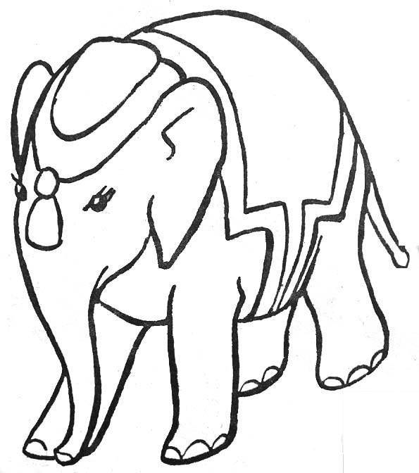Coloriage et dessins gratuits Éléphant de Cirque à imprimer
