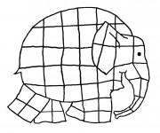 Coloriage Éléphant facile