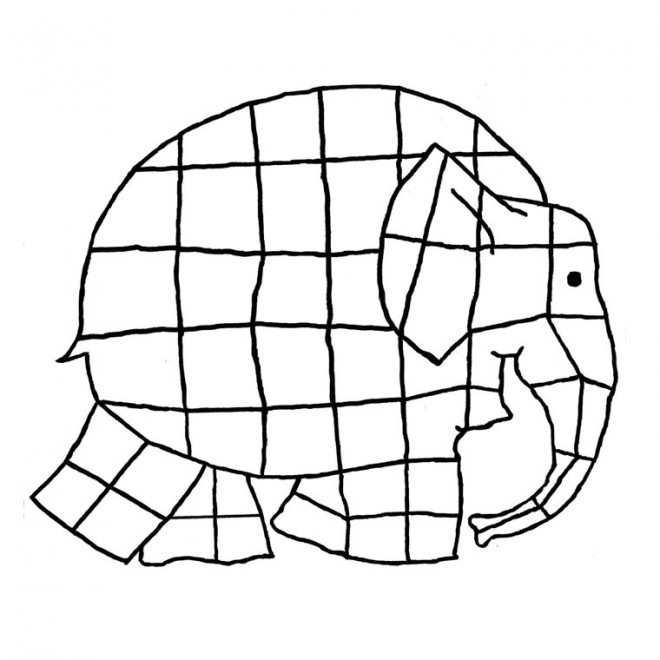 Coloriage l phant facile dessin gratuit imprimer - Dessin elephant rigolo ...