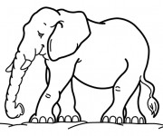 Coloriage et dessins gratuit Éléphant maternelle à imprimer