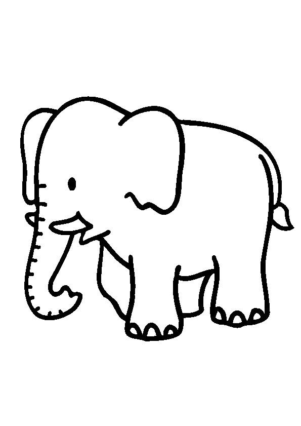 Coloriage l phant pour enfant dessin gratuit imprimer - Dessin elephant rigolo ...