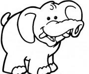 Coloriage l phant heureux dessin gratuit imprimer - Dessin elephant rigolo ...