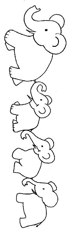 Coloriage et dessins gratuits Éléphants à télécharger à imprimer
