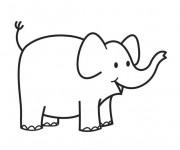 Coloriage et dessins gratuit Petit Éléphant à imprimer