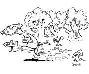 Coloriage et dessins gratuit Furet de la Forêt humoristique à imprimer