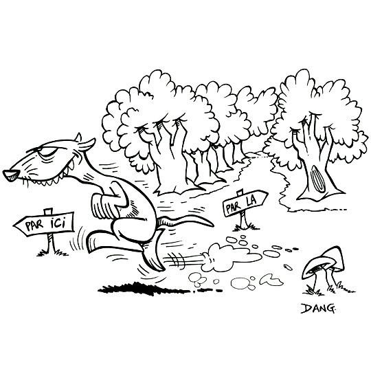 Coloriage et dessins gratuits Furet de la Forêt humoristique à imprimer