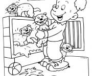 Coloriage et dessins gratuit Furets et enfant à imprimer