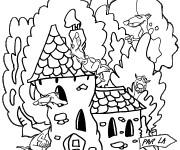 Coloriage et dessins gratuit Furets et leurs maison à imprimer