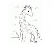 Coloriage et dessins gratuit Girafe aimable à imprimer