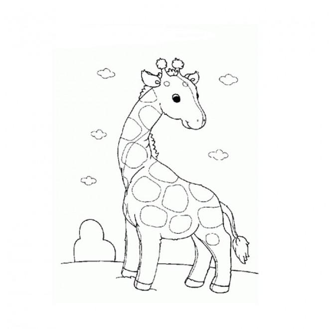 Coloriage et dessins gratuits Girafe aimable à imprimer