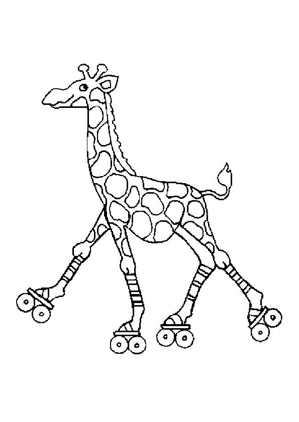 Coloriage et dessins gratuits Girafe en train de jouer à imprimer