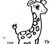 Coloriage et dessins gratuit Girafe mignonne à imprimer