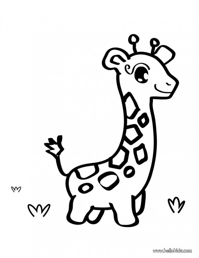 Coloriage et dessins gratuits Girafe mignonne à imprimer