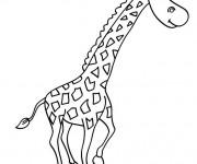 Coloriage et dessins gratuit Girafe pour enfant à imprimer