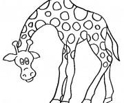 Coloriage et dessins gratuit Girafe rigolote à imprimer