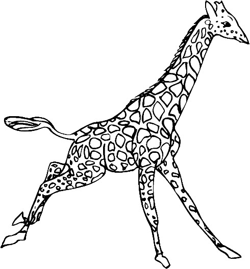 Coloriage et dessins gratuits Girafe se balade à imprimer