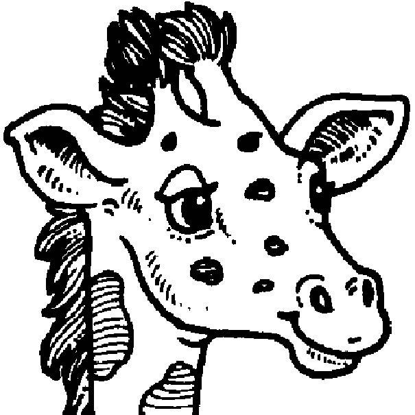 Coloriage Tete De Girafe A Imprimer.Coloriage Tete Girafe Dessin Gratuit A Imprimer