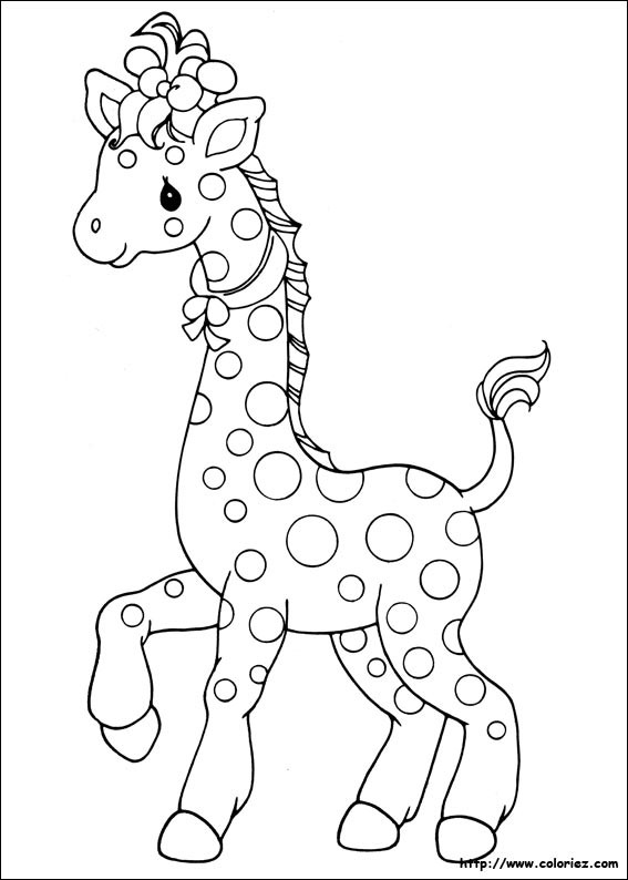 Coloriage et dessins gratuits Une belle Girafe à imprimer