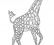 Coloriage et dessins gratuit Une Girafe de toute beauté à imprimer