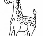 Coloriage et dessins gratuit Une petite Girafe à colorier à imprimer