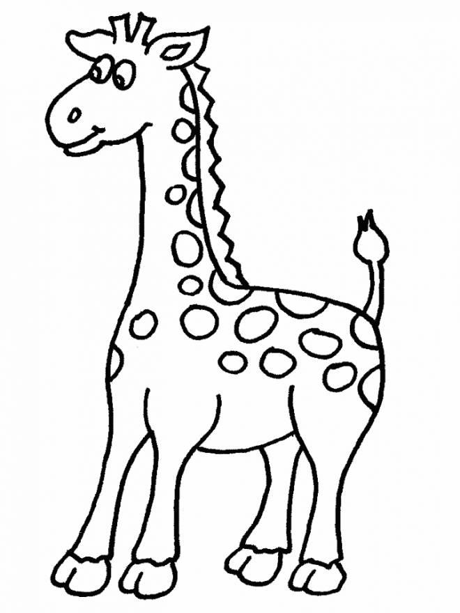 Coloriage et dessins gratuits Une petite Girafe à colorier à imprimer