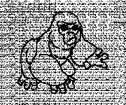 Coloriage Gorille énervé