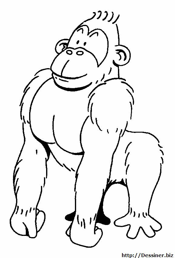Coloriage et dessins gratuits Gorille fort à imprimer