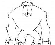 Coloriage Gorille humoristique