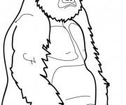 Coloriage et dessins gratuit Gorille se repose à imprimer