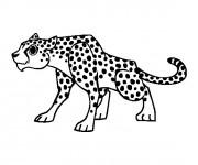 Coloriage et dessins gratuit Guépard attentif à imprimer
