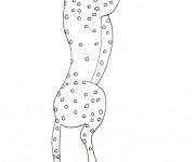 Coloriage et dessins gratuit Guépard simple à imprimer