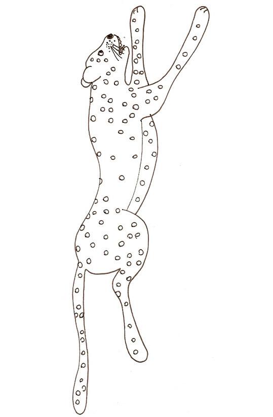 Coloriage Guépard simple dessin gratuit à imprimer