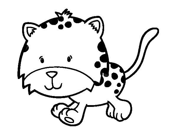 Coloriage et dessins gratuits Petit Guépard aimable à imprimer